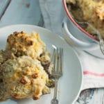 Chicken Mushroom and Leek Cobbler
