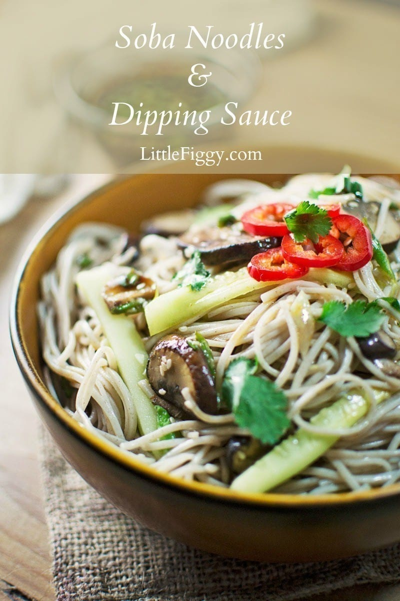 For an incredibly flavorful, easy-to-make meal try this Soba Noodles + Dipping Sauce! Recipe @LittleFiggyFood