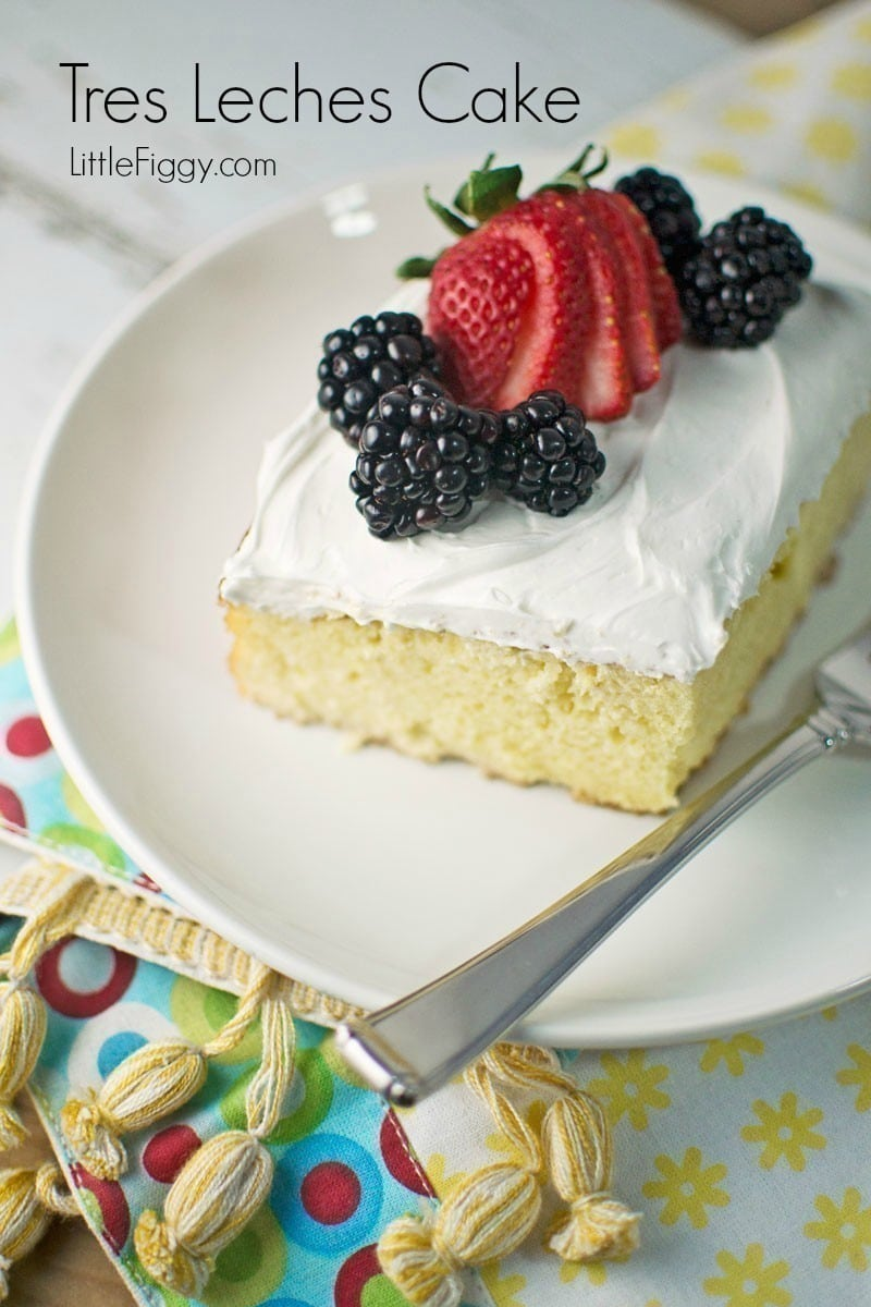 Tres Leches Cake - Little Figgy Food