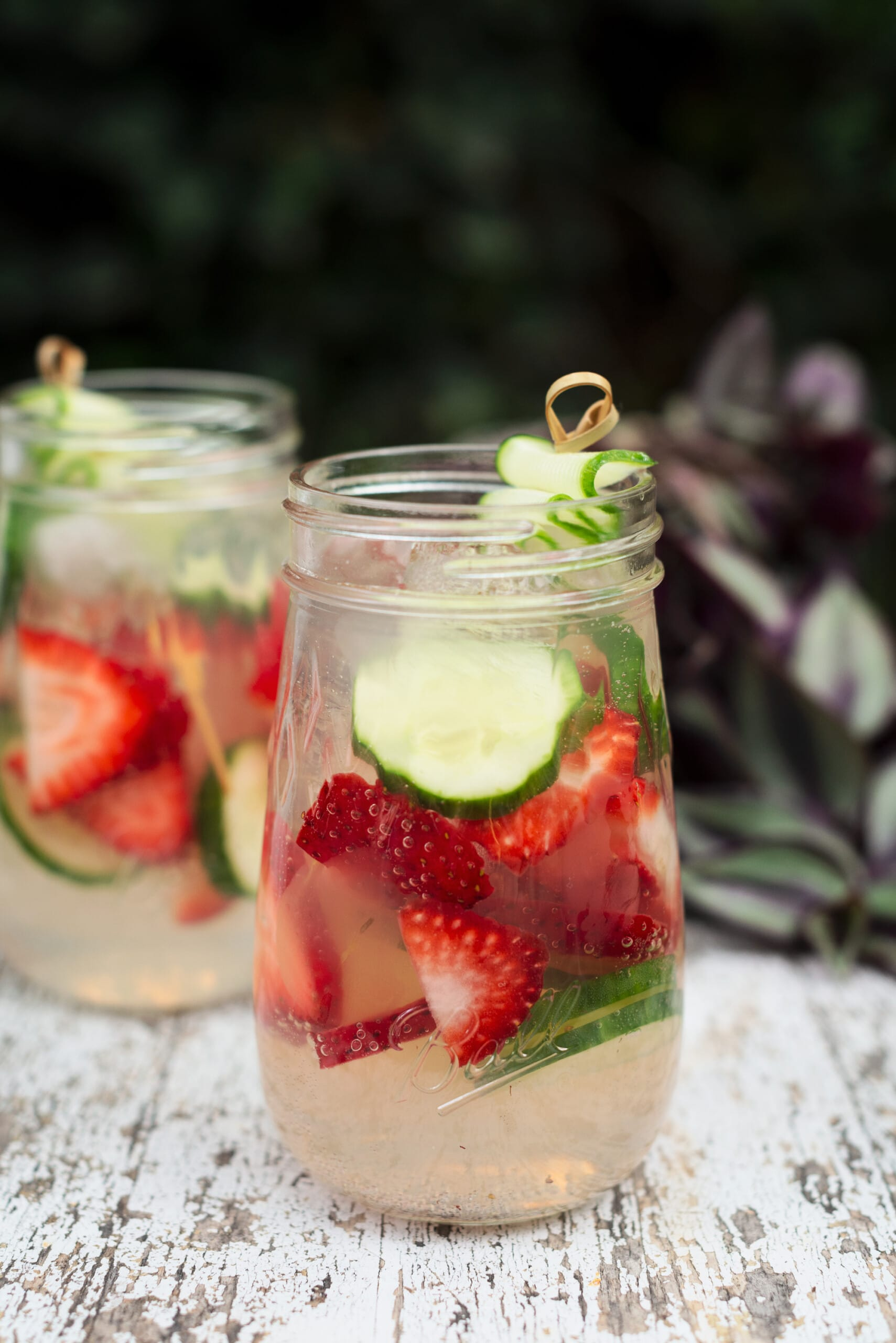 Outdoor Party Ideas | Strawberry Cucumber Drink