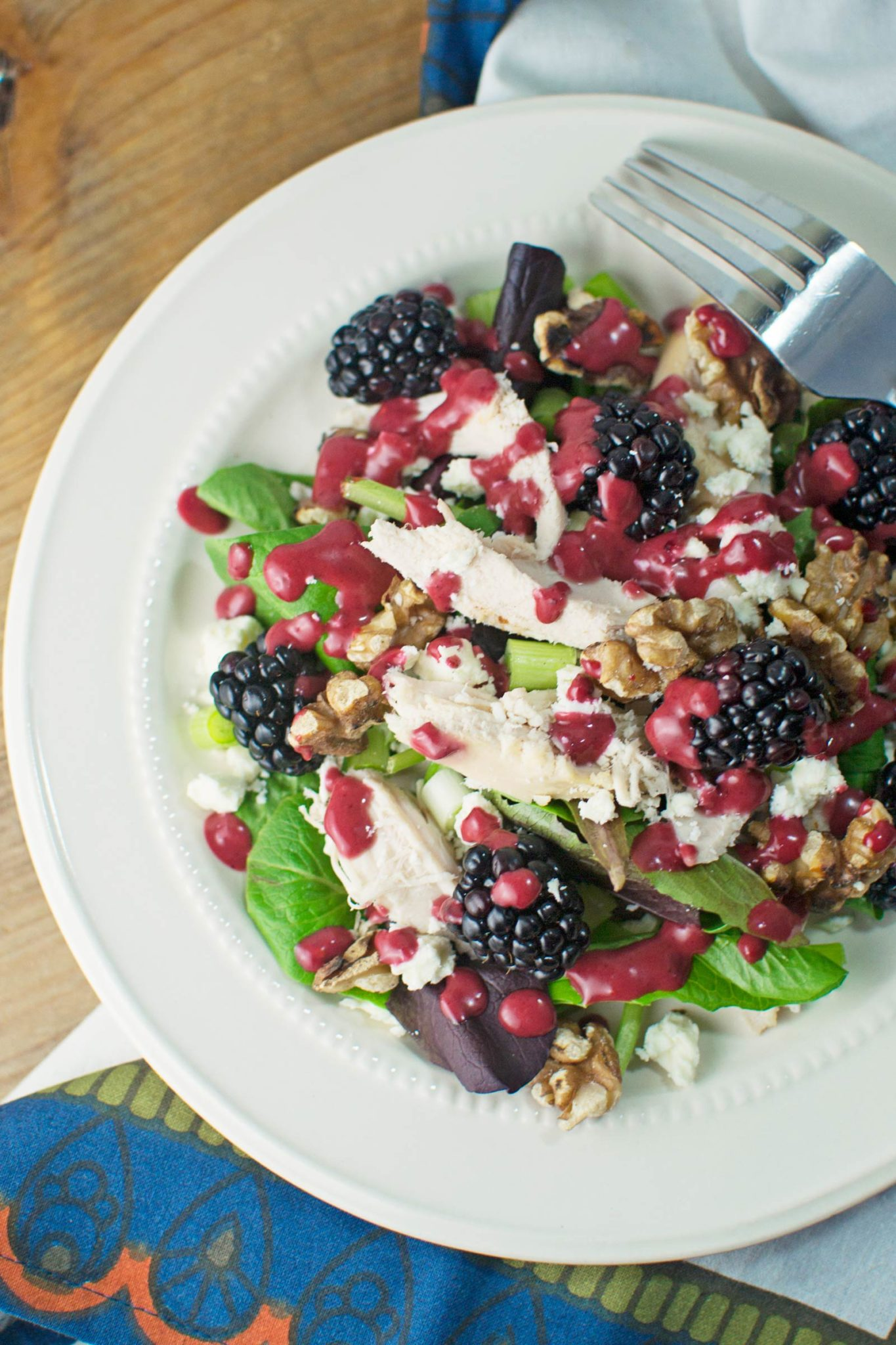 beautiful blackberry balsamic dressing