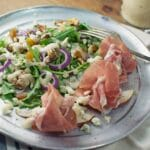 Honey Pear Vinaigrette with Prosciutto Blue Cheese Salad