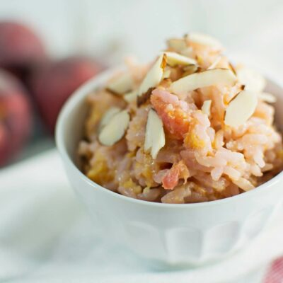 Peaches and Cream Fried Rice