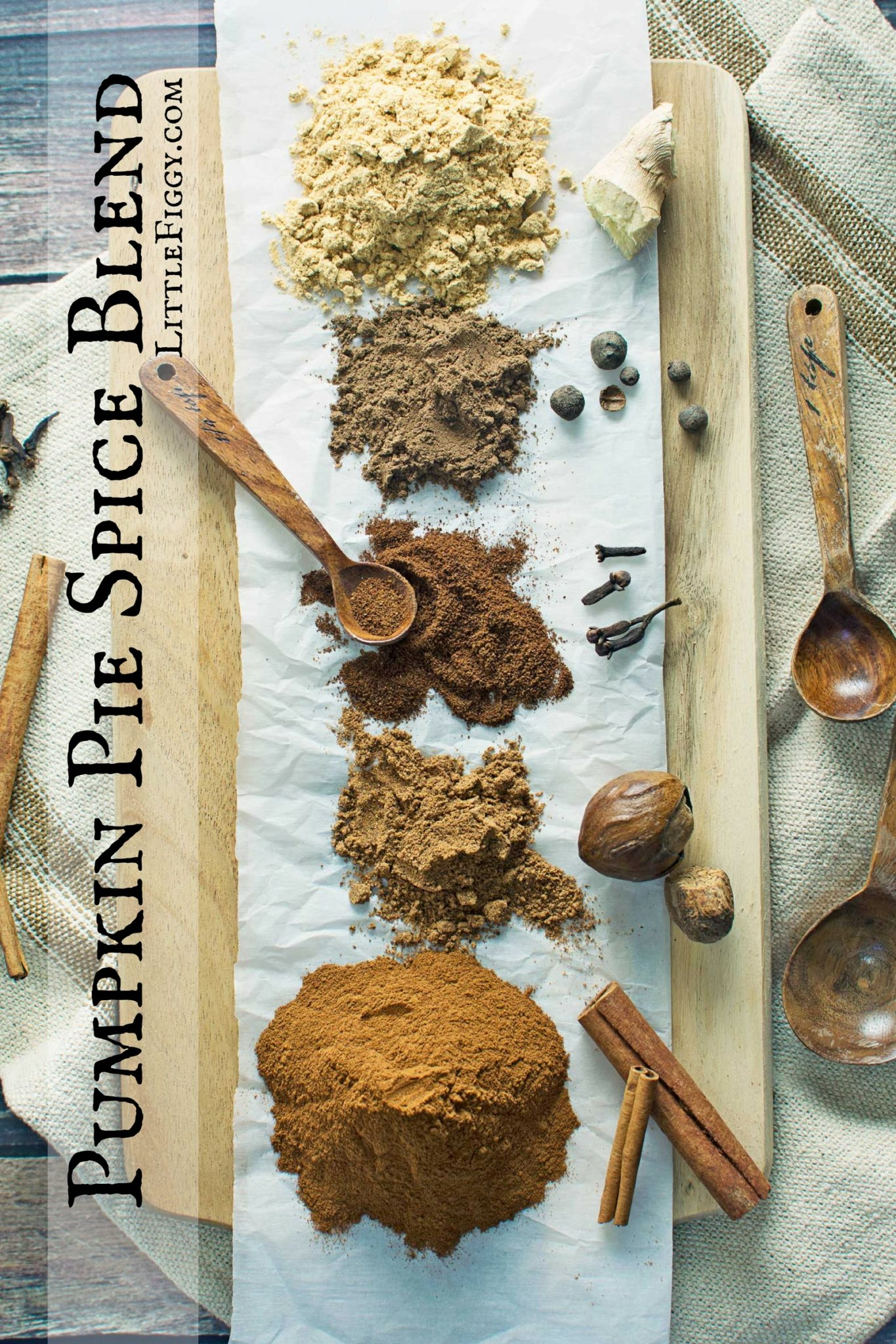 Pumpkin Pie Spice Blend, so easy to make and is perfect for all of your favorite traditional and not so traditional fall dishes, from pumpkin pie to curry. Making your own blends also makes for great Gifts from the Kitchen! Recipe @LittleFiggyFood