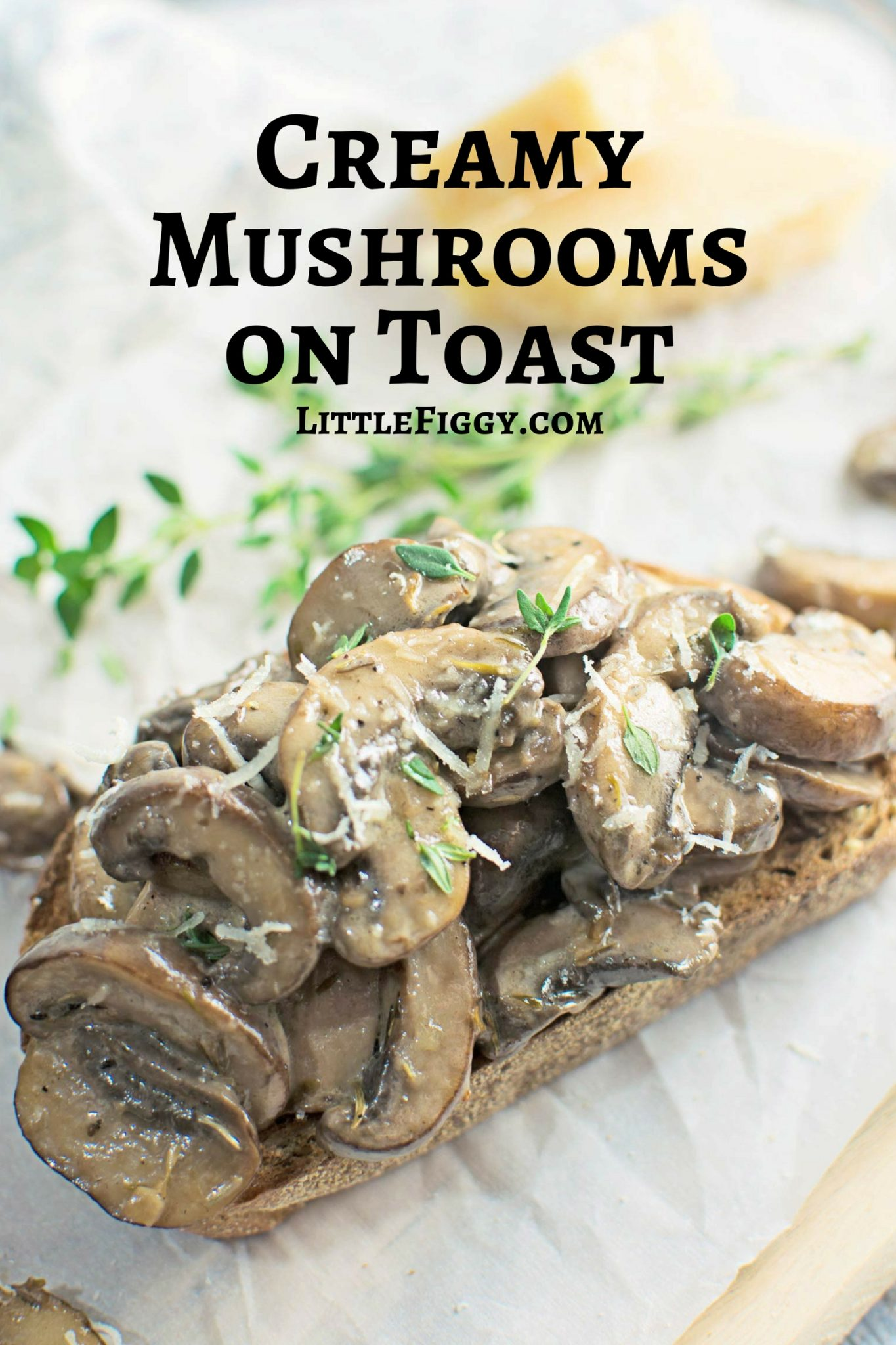 Try this moreish meal of Creamy Mushrooms on Toast as a snack, appetizers or even breakfast! Recipe @LittleFiggyFood