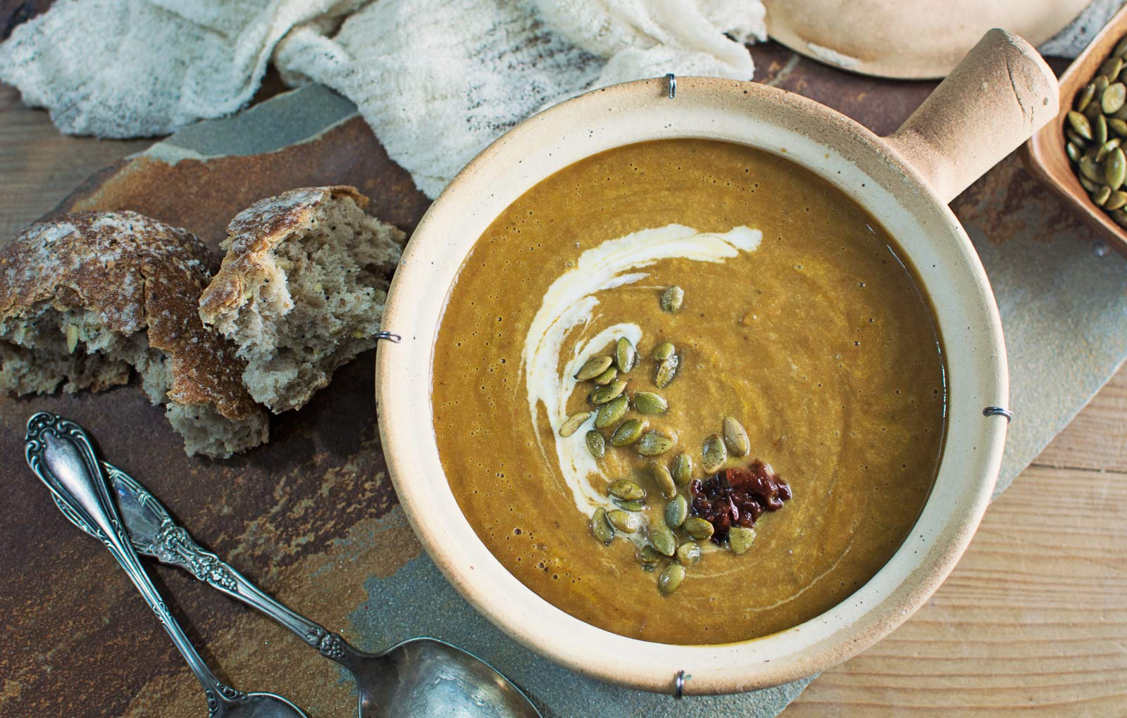 Chipotle Pumpkin Soup - Little Figgy Food