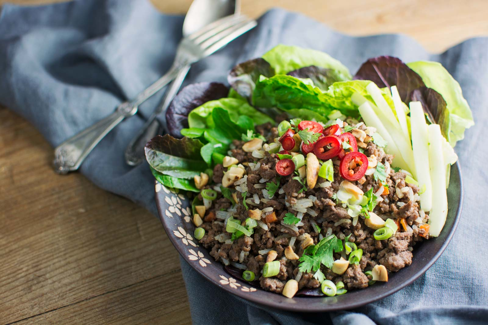 Asian Ginger Beef Salad Bowl