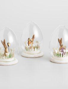 Bunny Scenes Glass Cloche