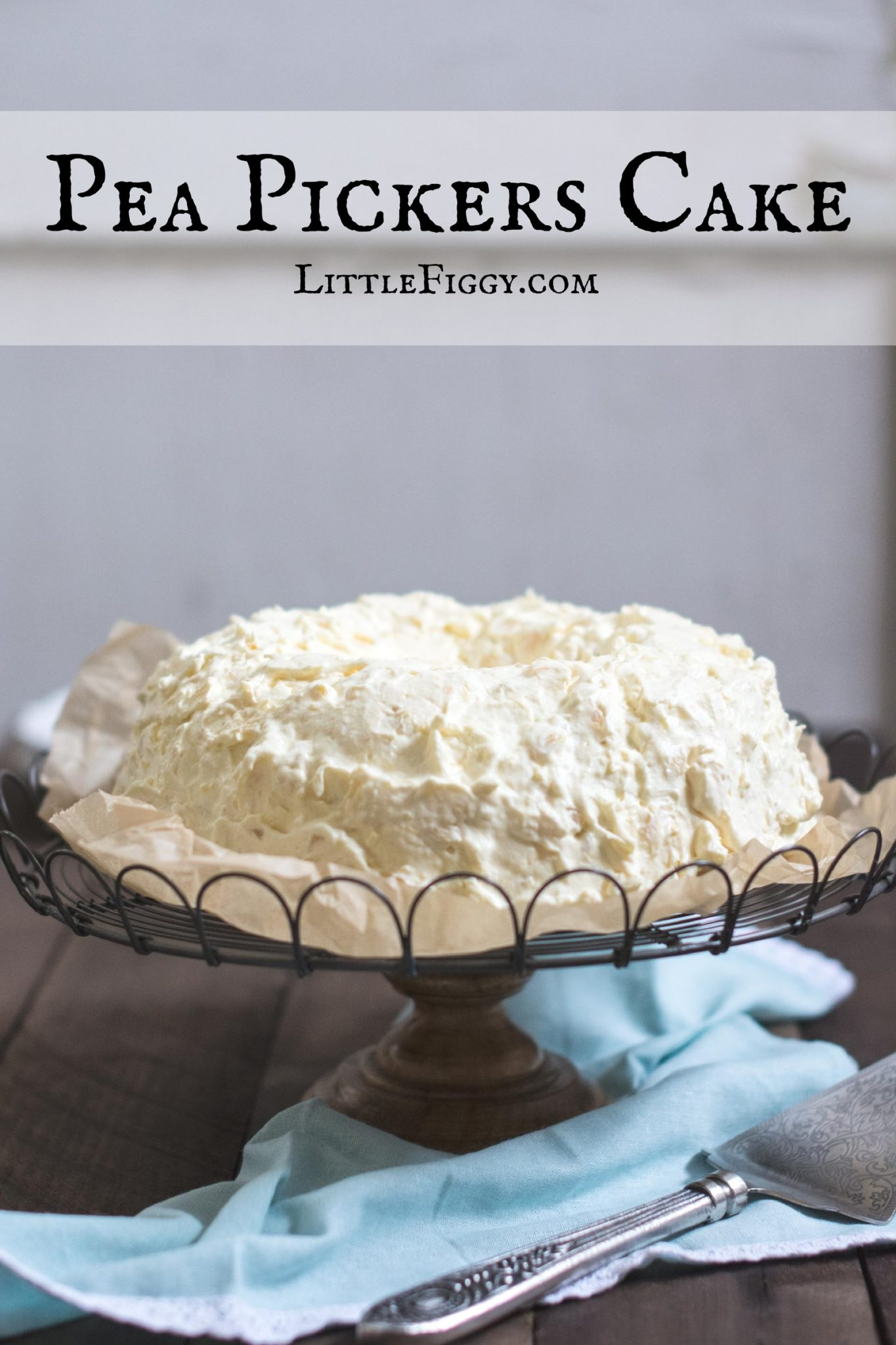 Pea Pickers Cake (also known as Cool Whip Cake), a childhood favorite that's easy to make and full of mandarin oranges and crushed pineapple! Recipe @LittleFiggyFood