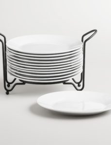 White Stacking Plates