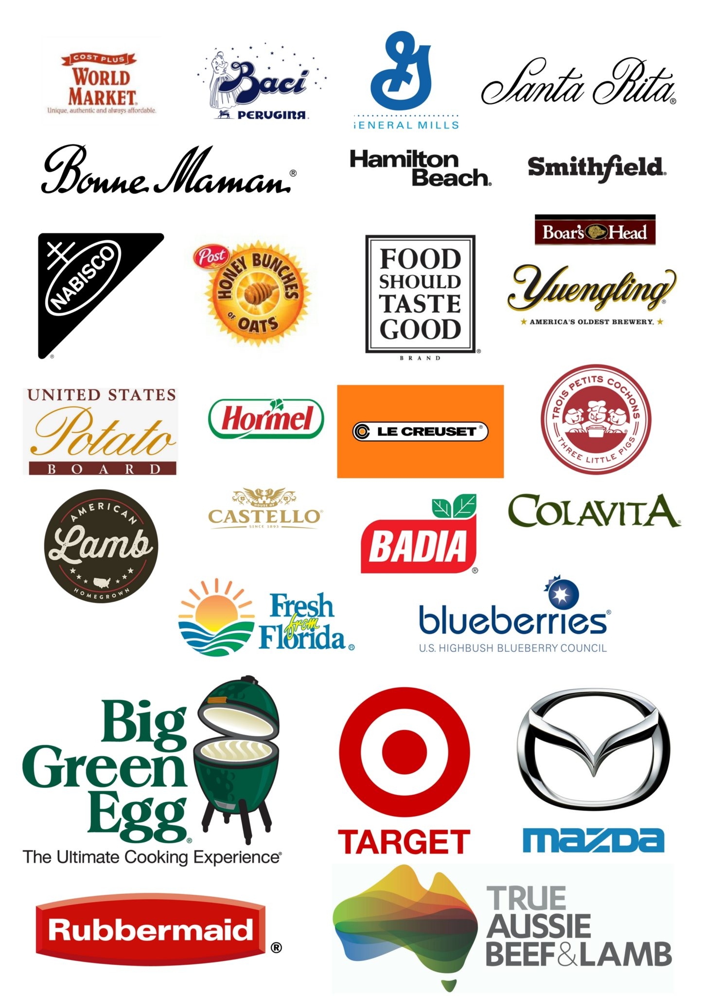Some of the Brands I've Worked With. For more information on partnerships, go to Little Figgy Food.