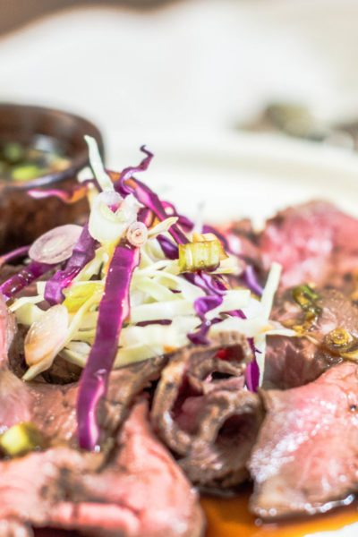 Try this Beef Tataki and Ponzu, get the recipe at Little FIggy Food