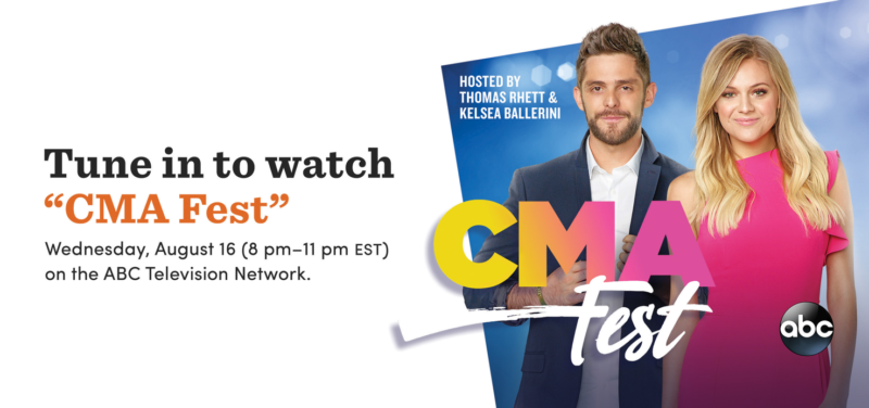 Tune in to watch CMA Fest, August 16th at 8 PM Eastern.