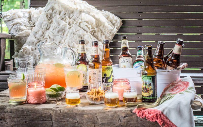 Enjoying Scarlet O'Hara Cocktails and Beer Tasting @WorldMarket #WorldMarketCMA #ad
