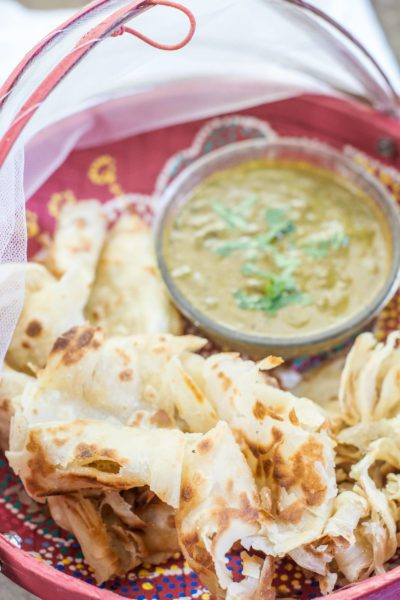 You have to try this Roti Canai with a Curry Dipping Sauce, so good and makes a great appetizer! Get the recipe at Little Figgy Food and read more about our latest #DriveMazda fun! @MazdaUSA #Ad