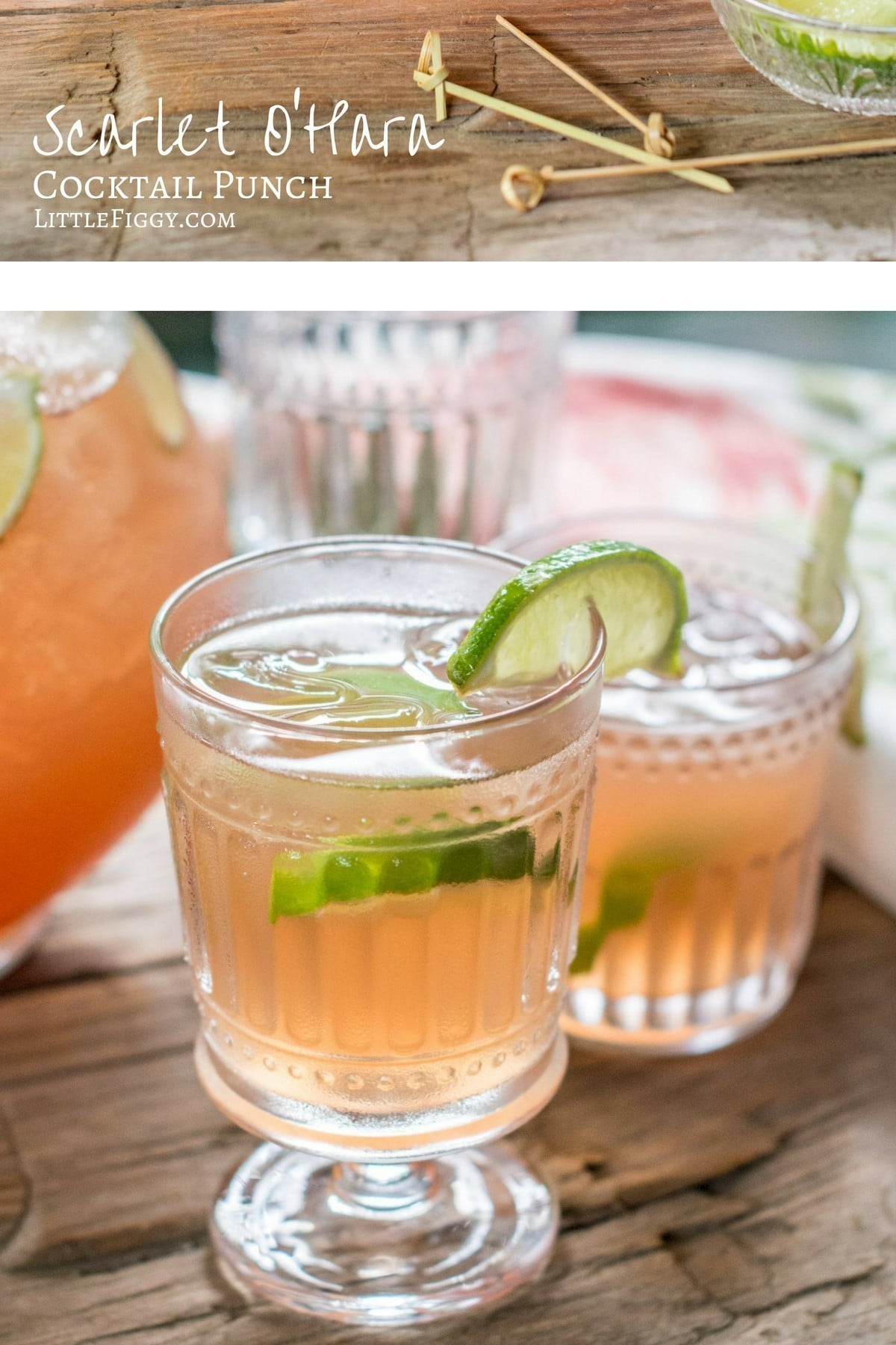Enjoy sipping on this Scarlet O'Hara Cocktail, perfect for your next get together! @WorldMarket #WorldMarketTribe #LittleFiggyFood #ad #cocktails #recipes