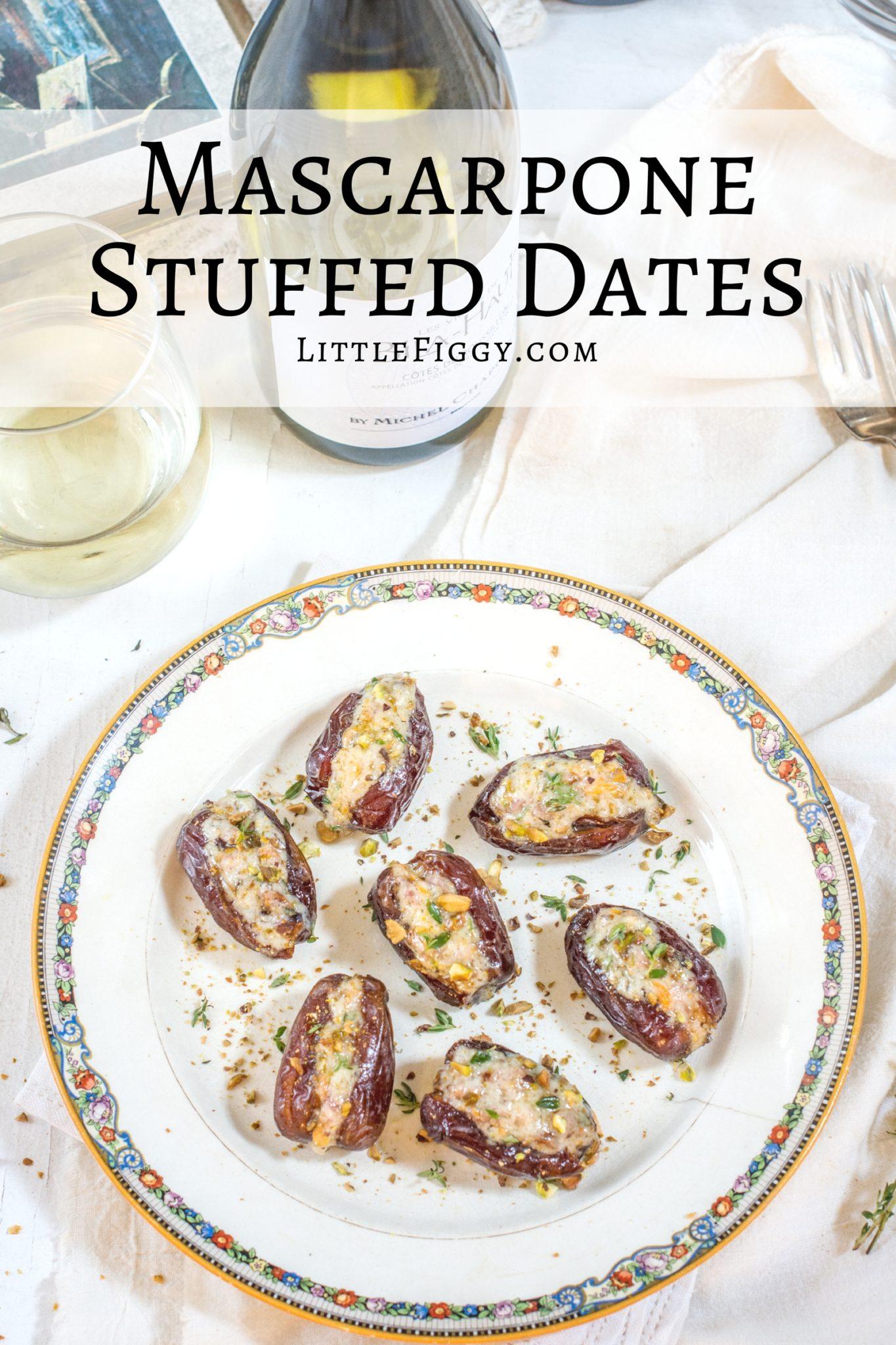 Mascarpone Stuffed Dates