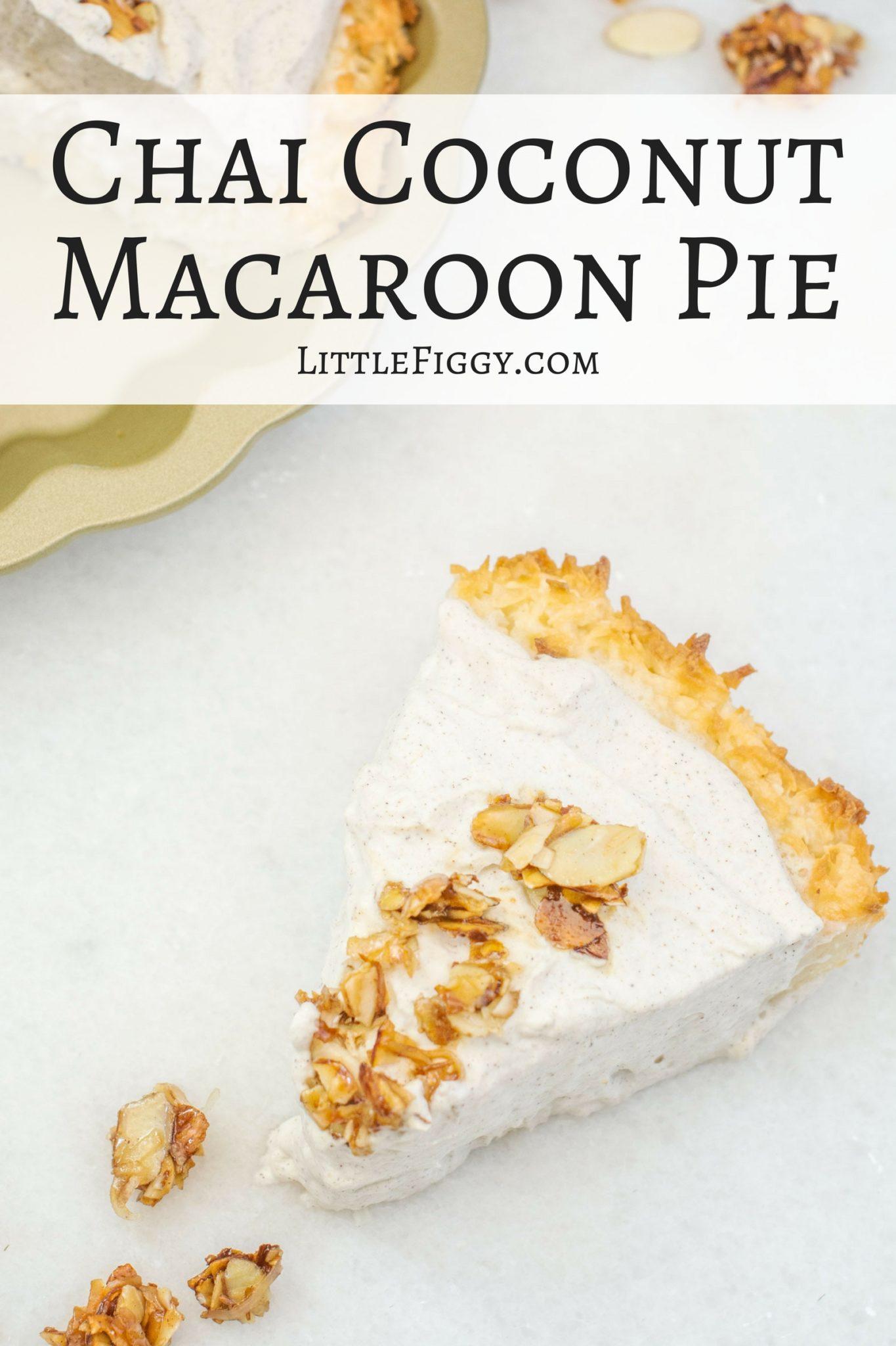 Chai Coconut Macaroon Pie