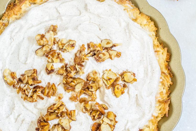 Chai Coconut Macaroon Pie recipe