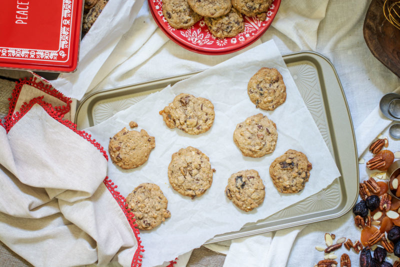 Getting ready with Everything Cookies, the ideal recipe to use up your holiday baking leftovers! Enjoy for yourself, perfect for cookie swaps or enjoy giving as a gift from your kitchen! Get the Recipe at Little Figgy Food! #GiftThemJoy #WorldMarketTribe @WorldMarket #ad
