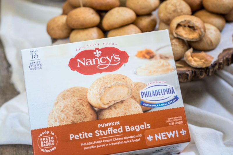 Philadelphia Cream Cheese Stuffed Bagels from NANCY'S, the perfect addition for holiday entertaining! Learn more at Little Figgy Food. #ad #ViveLeBrunch