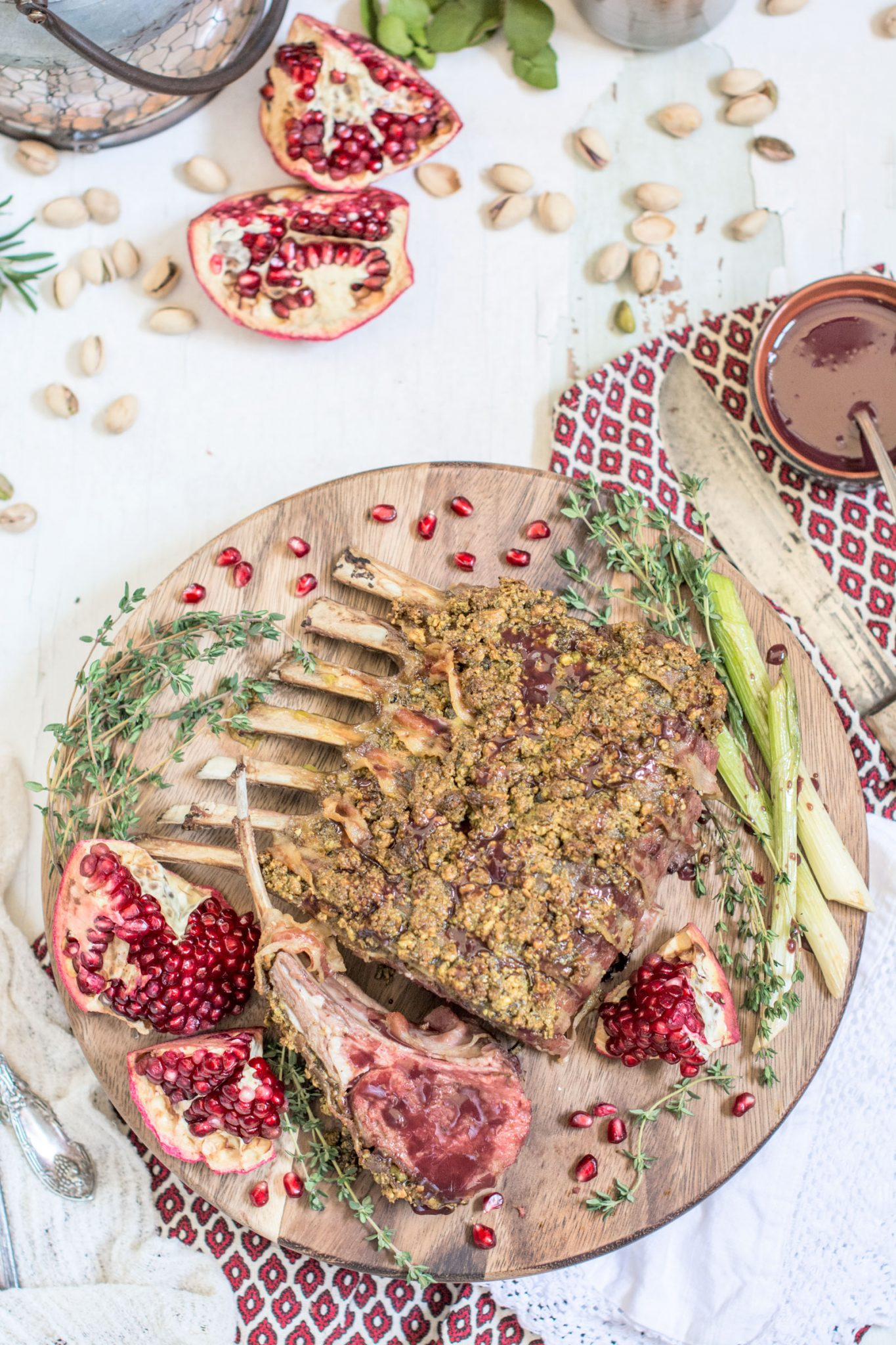 Pancetta and Pistachio Crusted Rack of Lamb