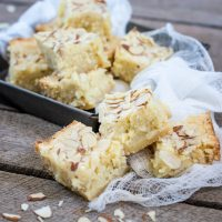 White Chocolate Blondies with Coconut and Lime
