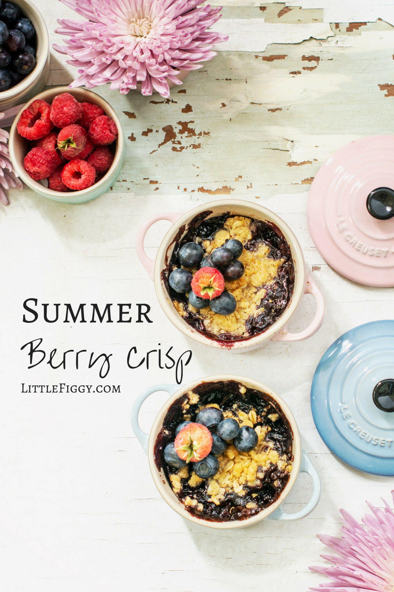 MY FAVORITE SUMMER BERRY CRISP RECIPE LITTLE FIGGY FOOD