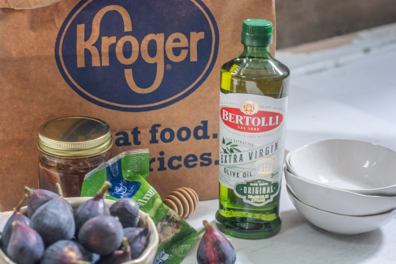 Ingredients from Kroger and Bertolli Extra Virgin Olive Oil.