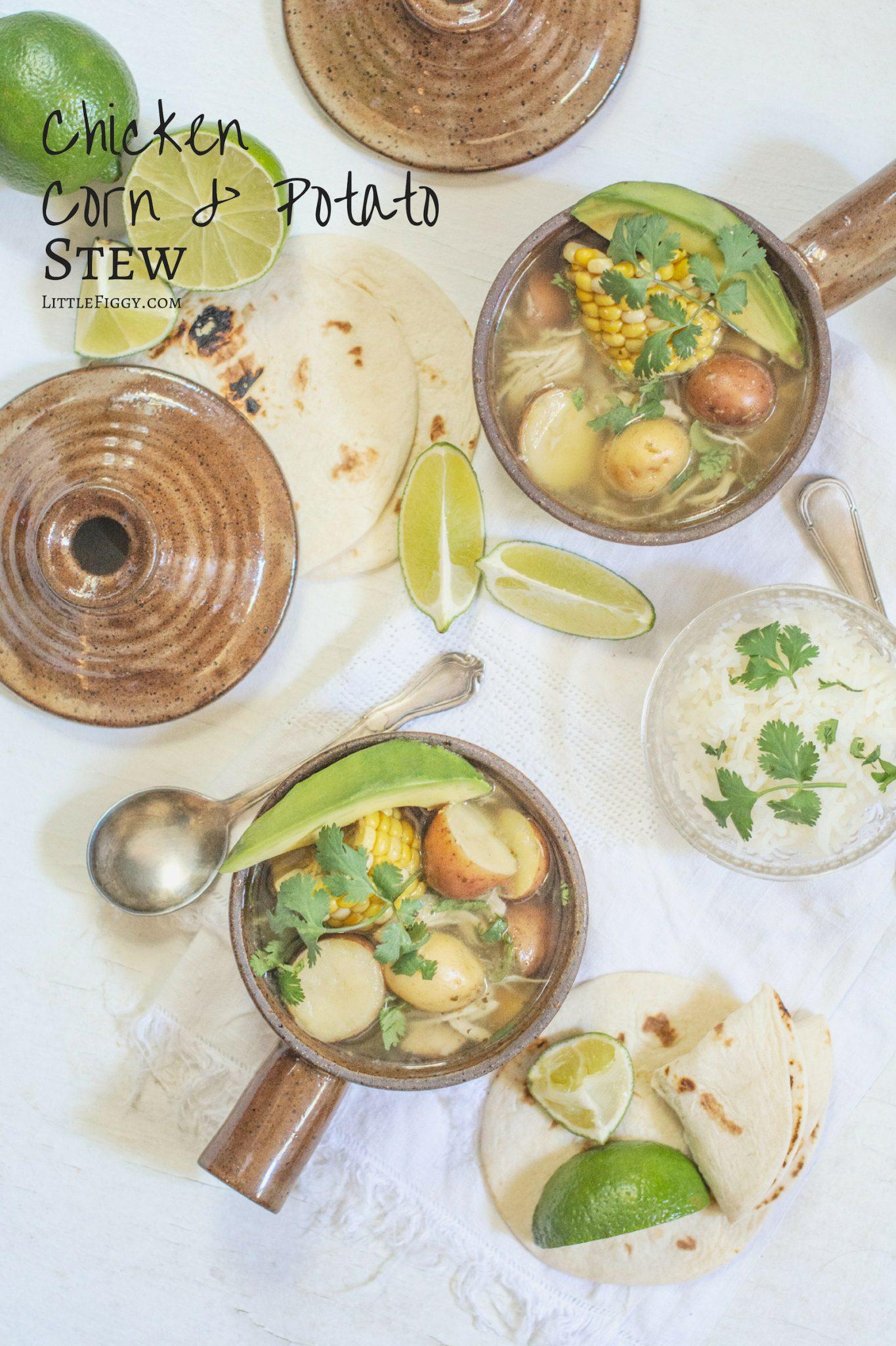 Chicken Corn and Potato Stew - Ajiaco Recipe.