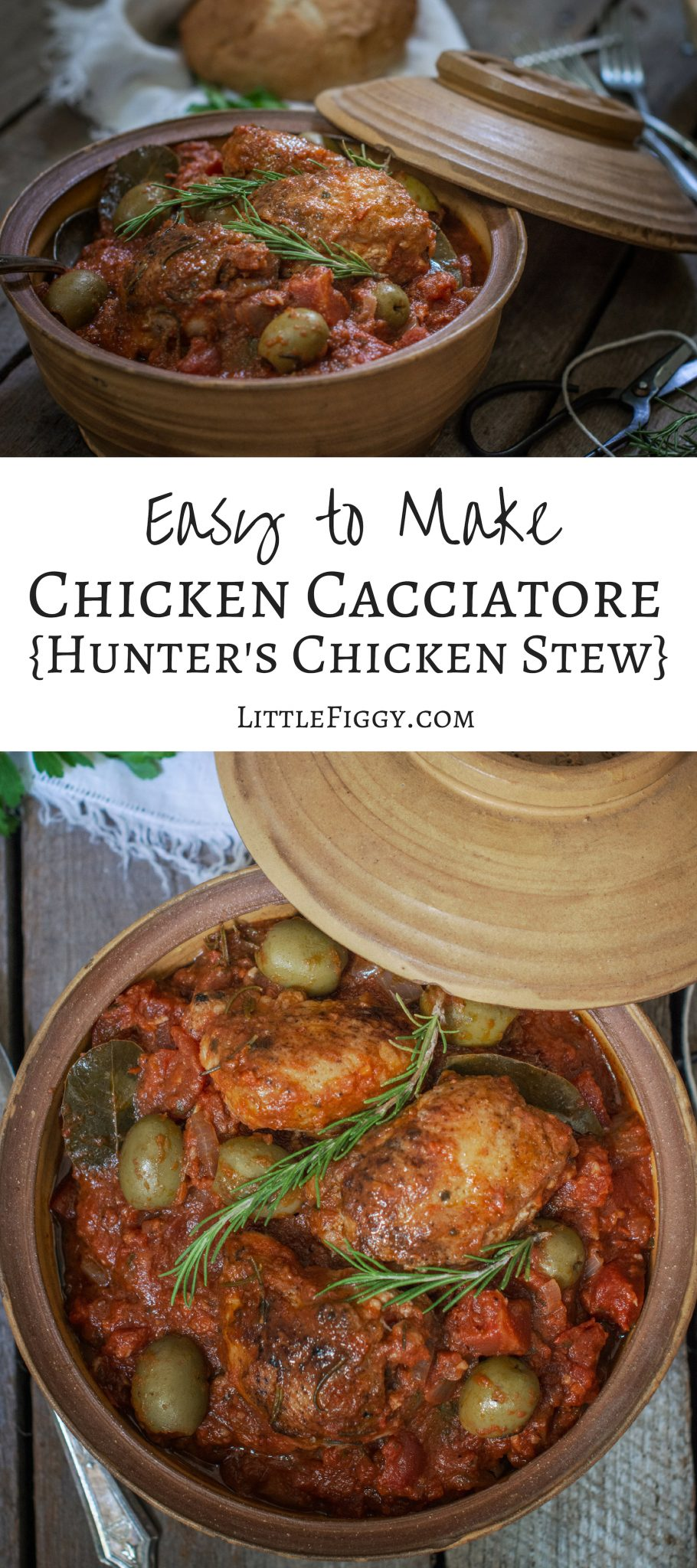 Make this easy Chicken Cacciatore - Hunters Chicken Stew dinner recipe! Full of rich flavors that is perfect for sharing. Get the recipe at Little Figgy Food @BronxLittleItaly @BXLittleItaly #ad #RealLittleItaly #LiBSauce #recipeoftheday #chickenrecipes #soupsandstews