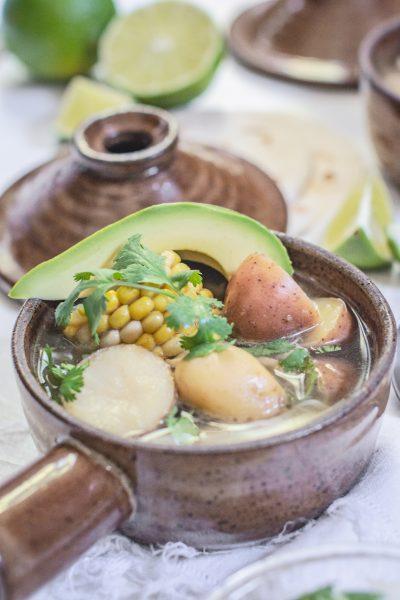 Ajiaco Recipe; Chicken Corn and Potato Stew