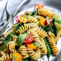 Almond Pesto with Pasta