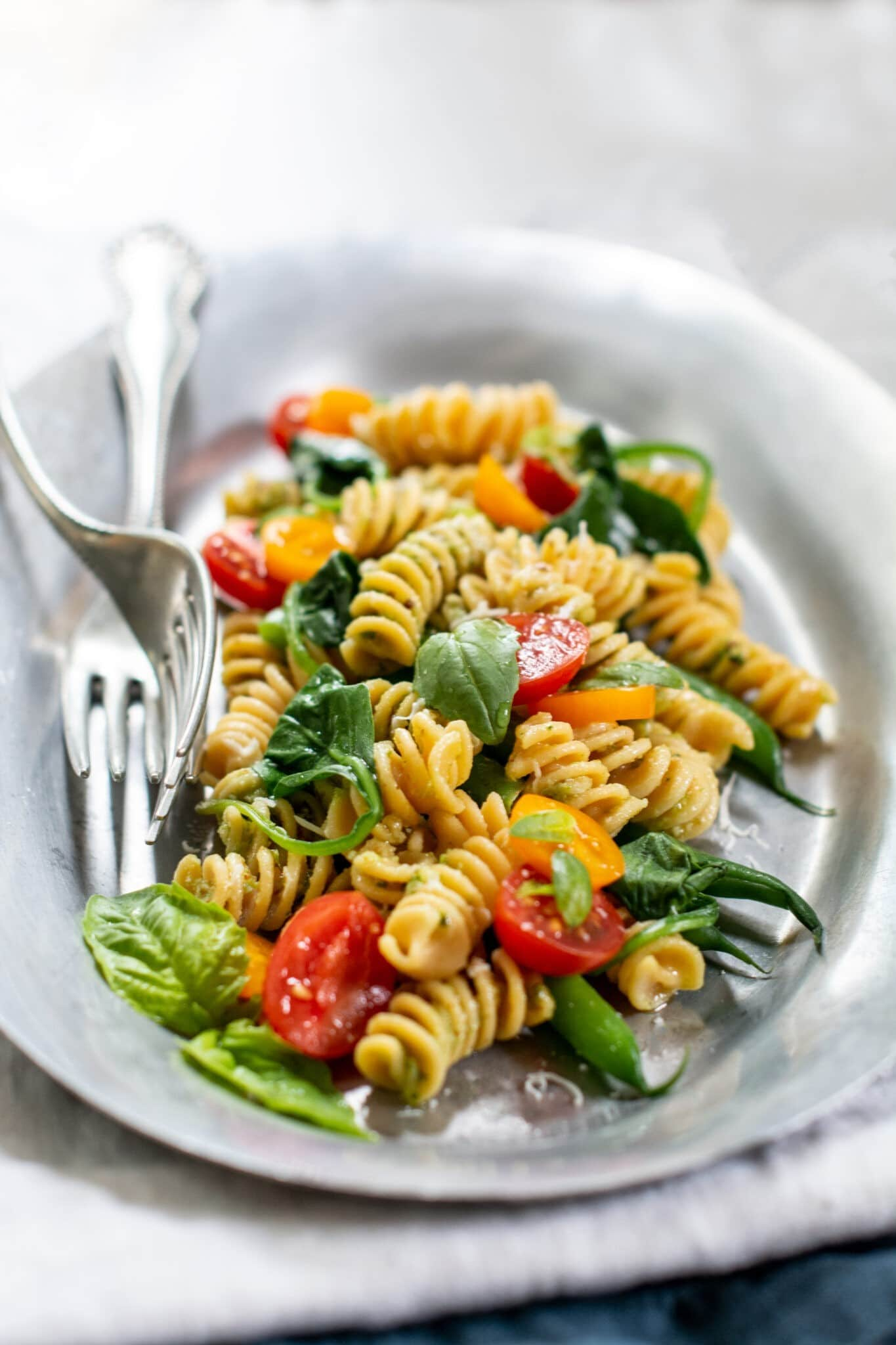Almond Pesto with easy gluten free pasta