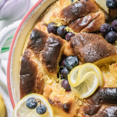 Brioche Bread Pudding with Lemon Curd