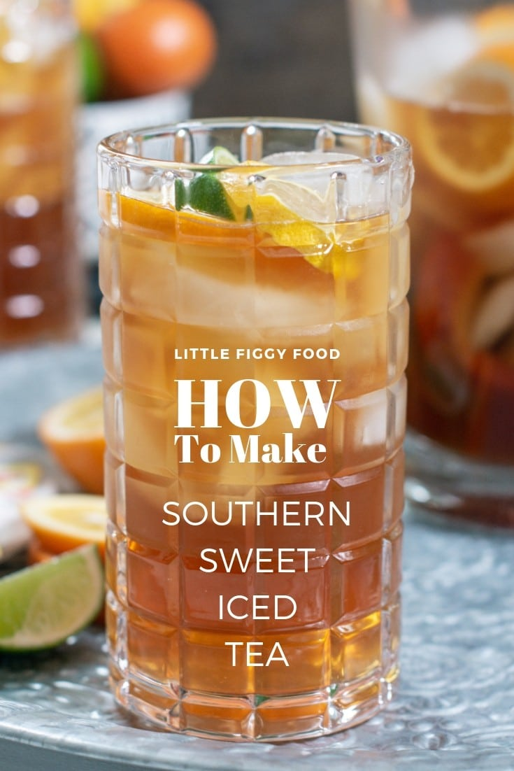 Easy to make and a favorite drink in the Deep South, Southern Sweet Iced Tea! Find out just how easy it is to make and enjoy! Learn how at Little Figgy Food. @SoFabFood ad #LiptonNewLook #recipeoftheday #Drinks #Tea #drinkrecipe #summerdrinks