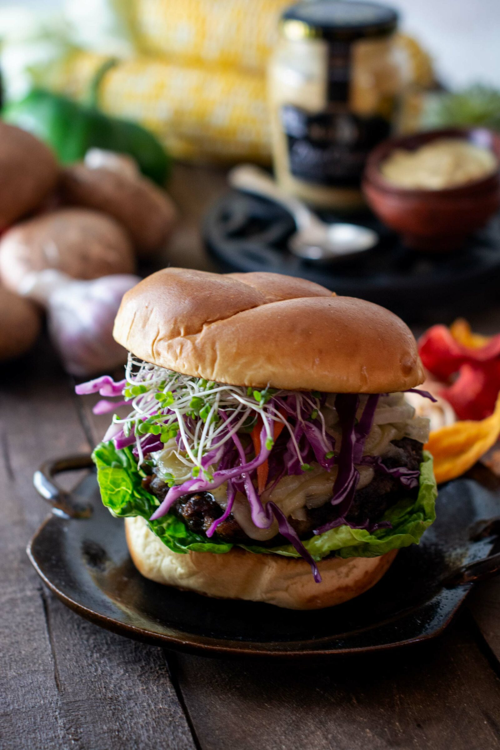 Dijon Portobello Mushroom Burger Recipe Little Figgy Food
