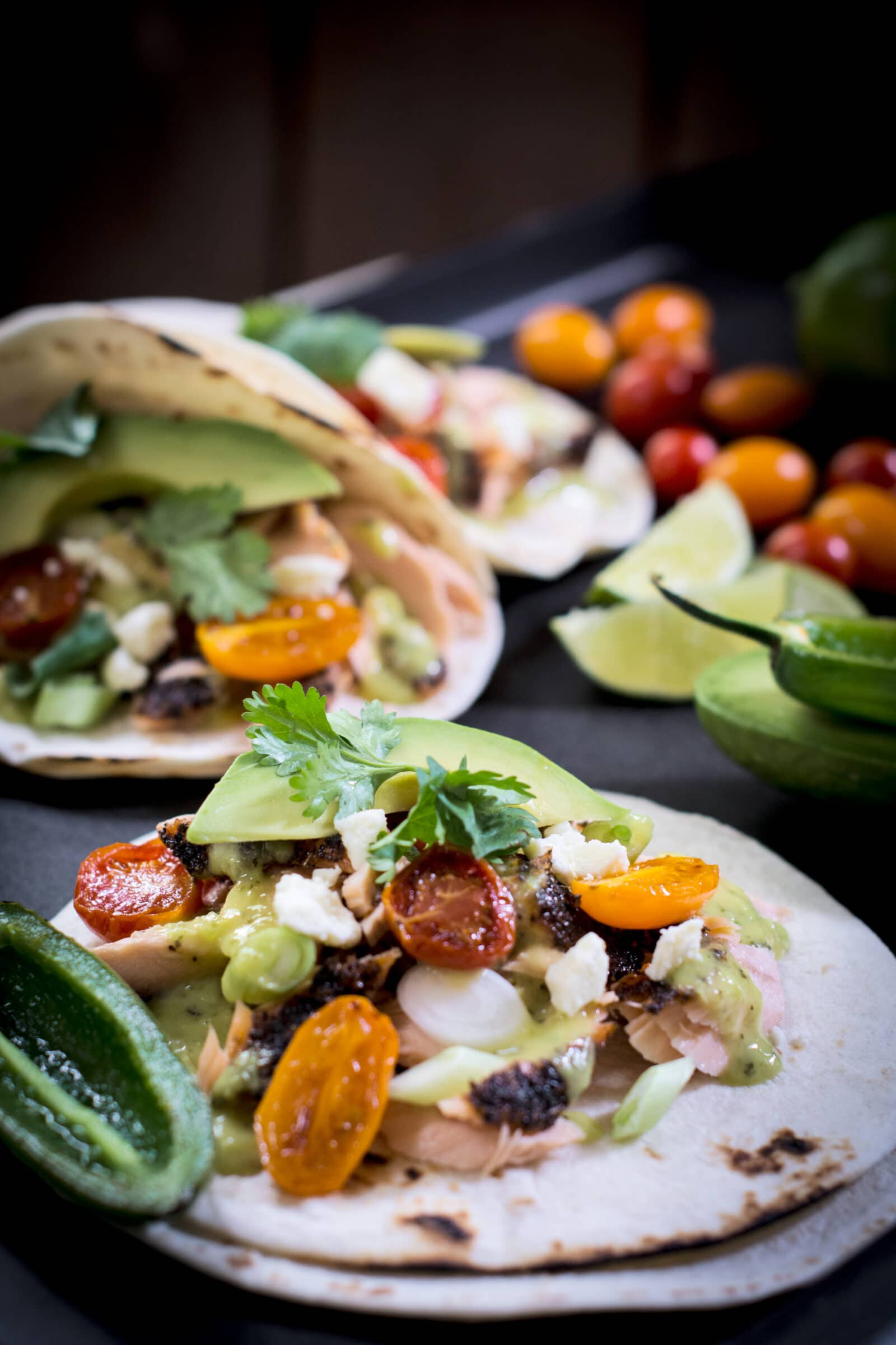 Cedar Plank Salmon Tacos Recipe