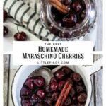 Making homemade maraschino cherries